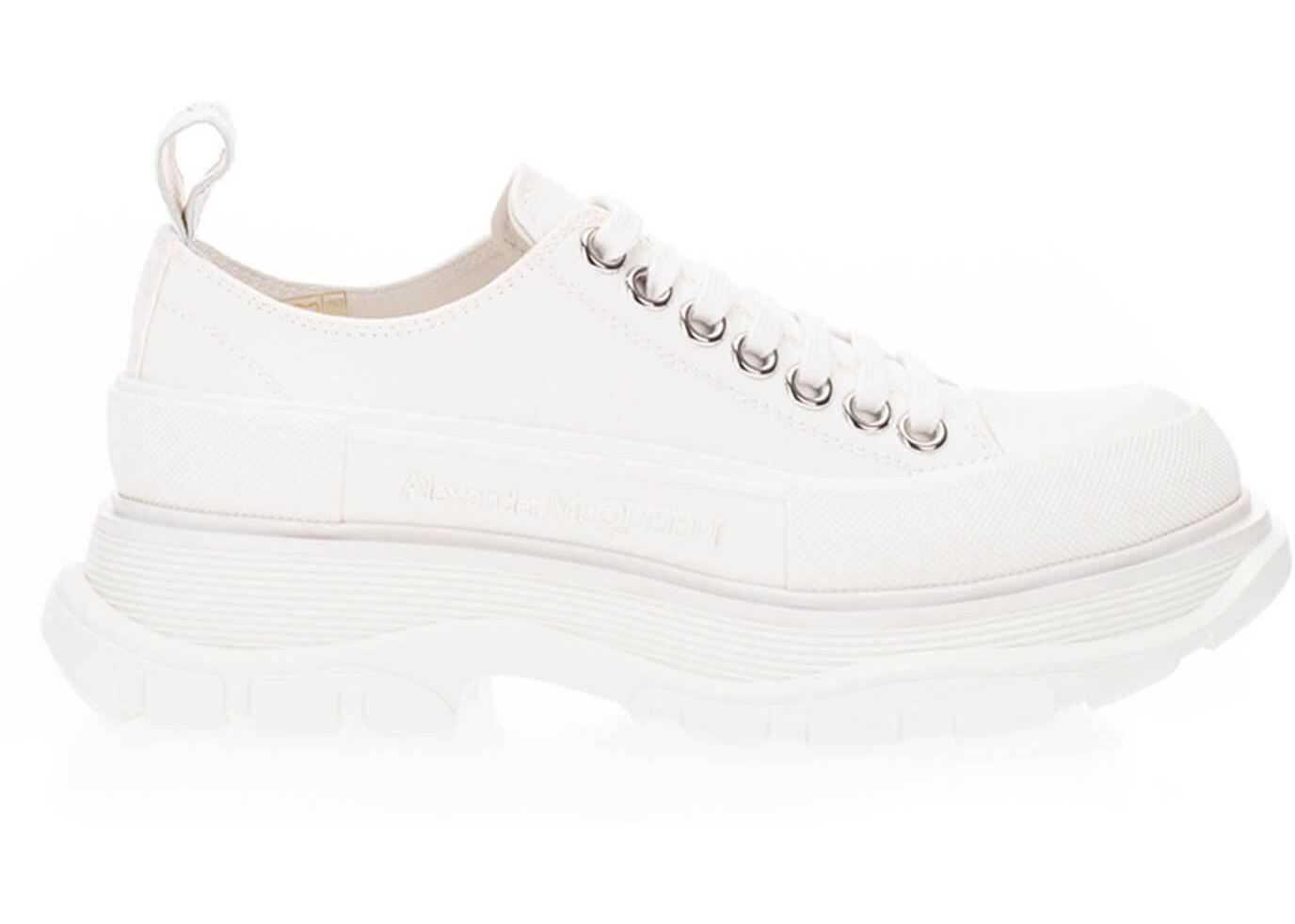 Alexander McQueen Tread Slick Lace-Ups In White 611705 W4L32 9000 White imagine b-mall.ro