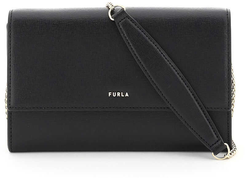 Furla Babylon Mini Bag Chain Wallet WE00076 B30000 NERO imagine b-mall.ro