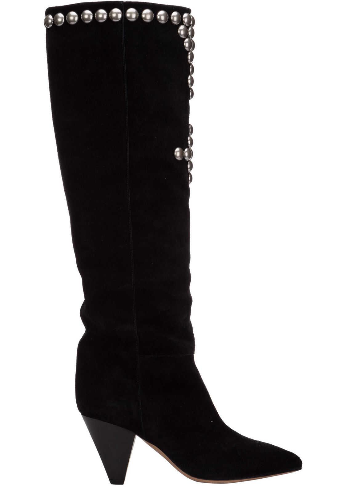 Isabel Marant Boots Lalle BT016420H005S01BK Black imagine b-mall.ro