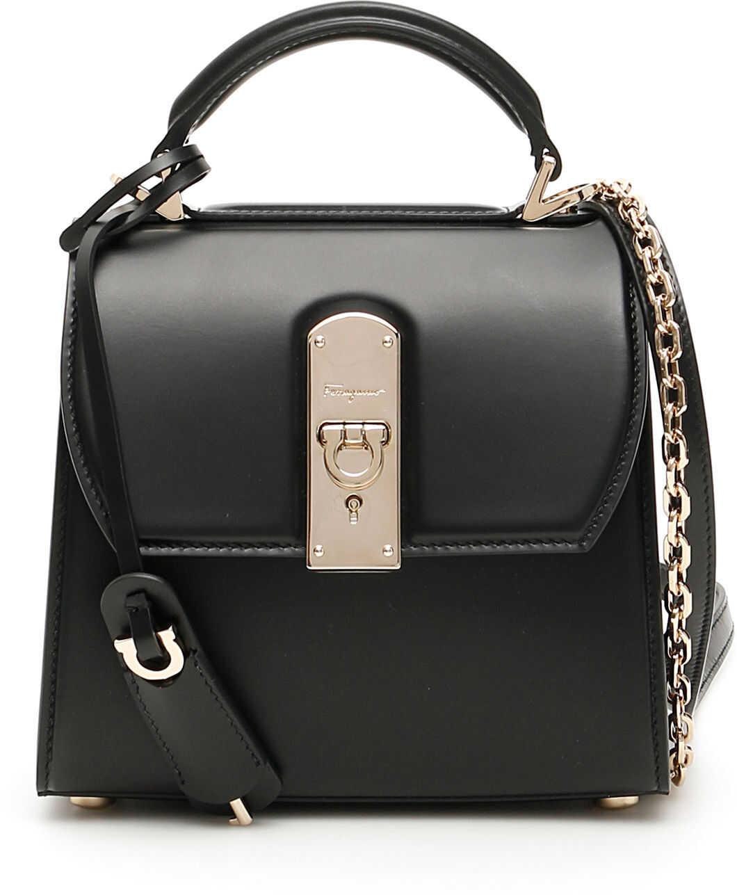Salvatore Ferragamo Small Boxy Handbag 21H6470717674 NERO imagine b-mall.ro