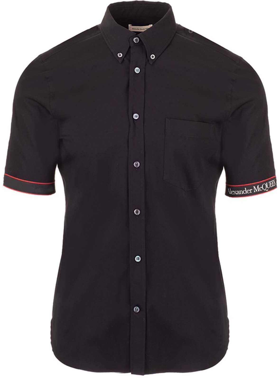 Alexander McQueen Logo Tape Brad Pitt Shirt In Black Black imagine