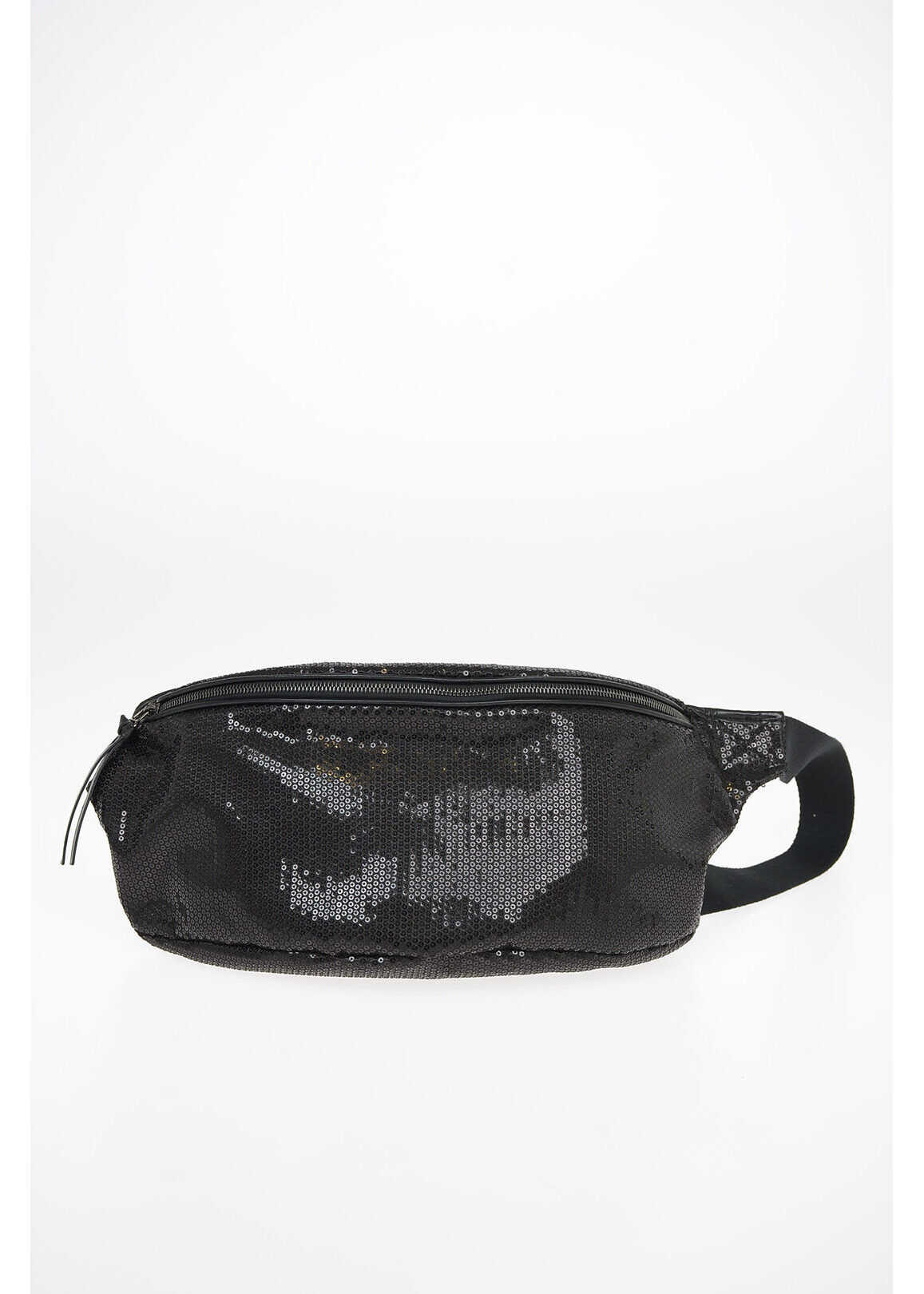 Maison Margiela MM6 Sequined Belt Bag BLACK imagine b-mall.ro