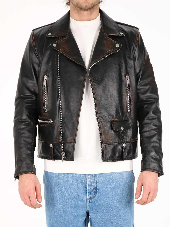 Saint Laurent Leather Jacket Black imagine
