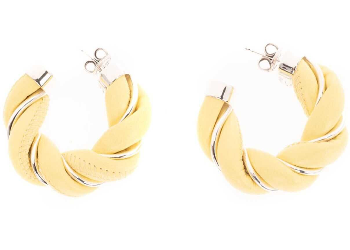 Bottega Veneta Earrings In Sherbert Silver Yellow