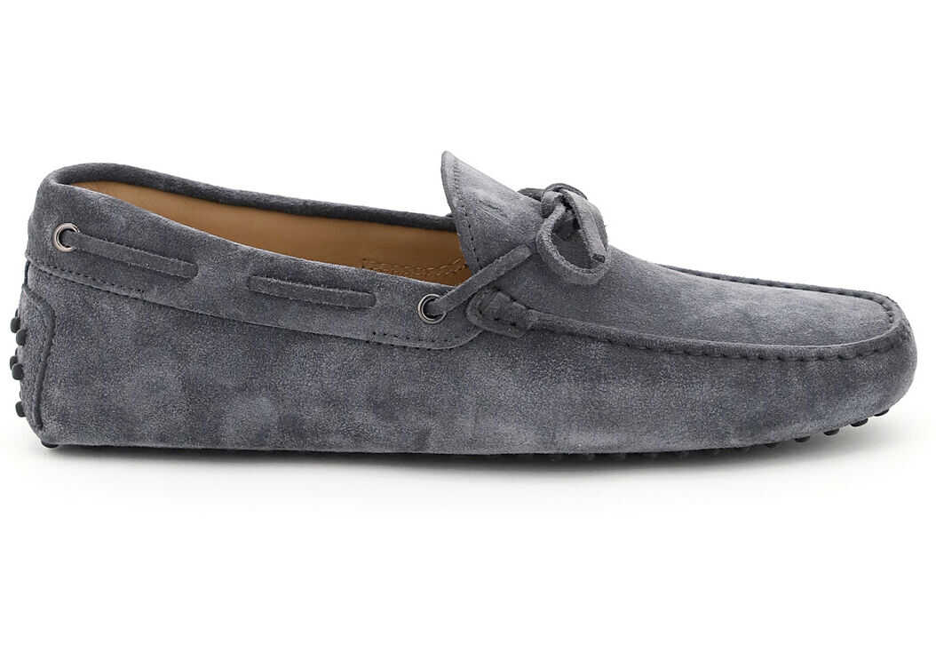 TOD'S Gommino Loafers With Laces XXM0GW05470RE0 OMBRA imagine b-mall.ro