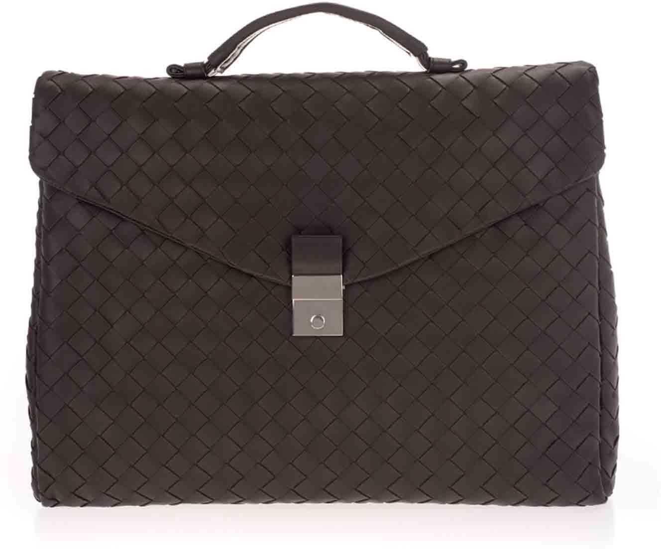 Bottega Veneta Intrecciato Business Bag In Fondente 630239VCRL22135 Brown imagine b-mall.ro
