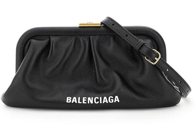Balenciaga Cloud Xs Clutch 618895 1IZOM BLACK imagine b-mall.ro