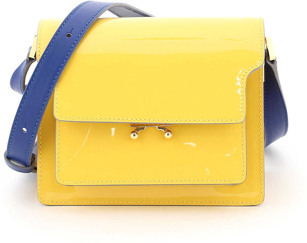 Marni New Trunk Mini Shoulder Bag SBMP0075Q0P4078 MAIZE NARCISSUS imagine b-mall.ro