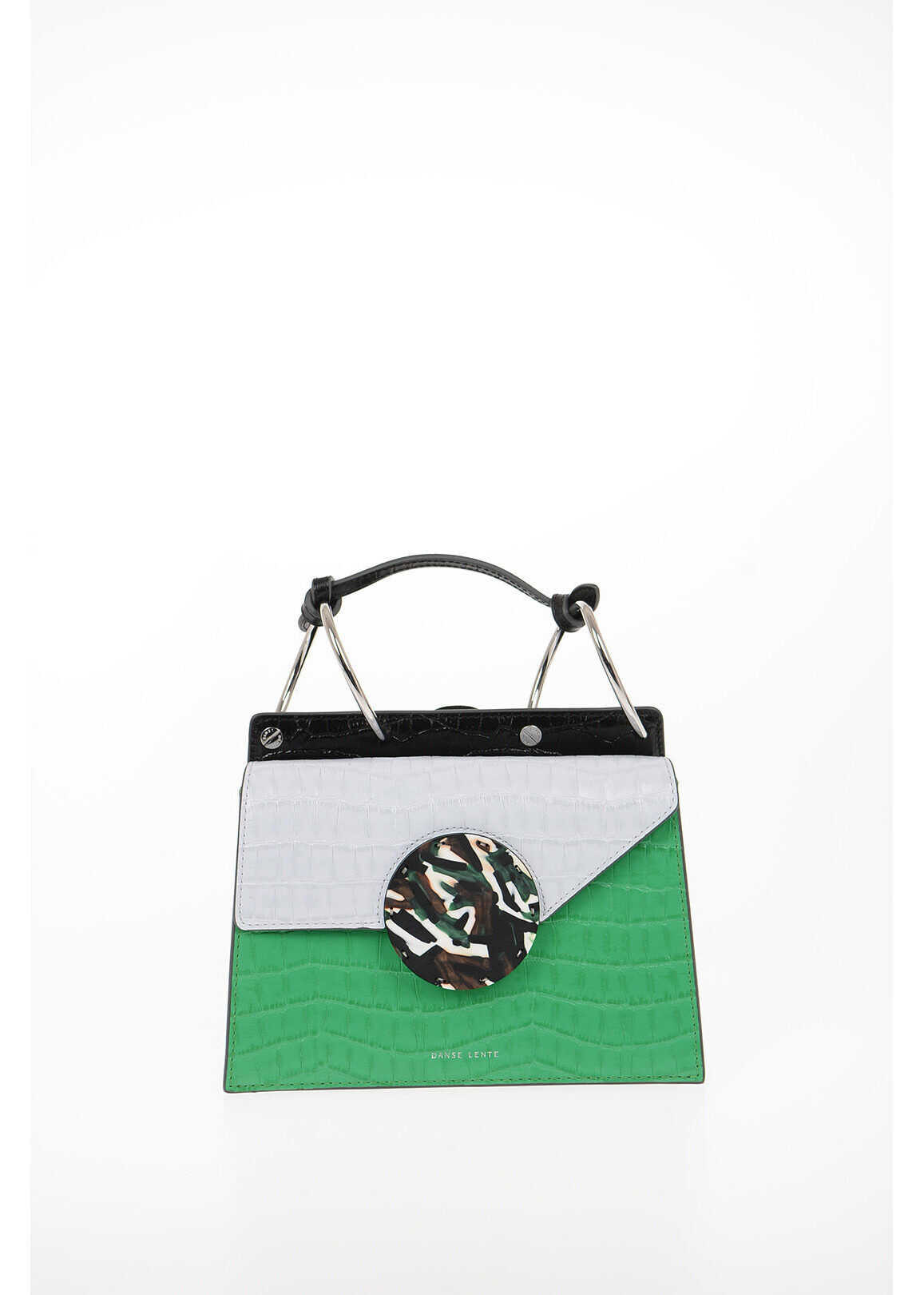 Danse Lente Printed Leather PHOEBE Top Handle Bag with Removable Shoulde MULTICOLOR imagine b-mall.ro