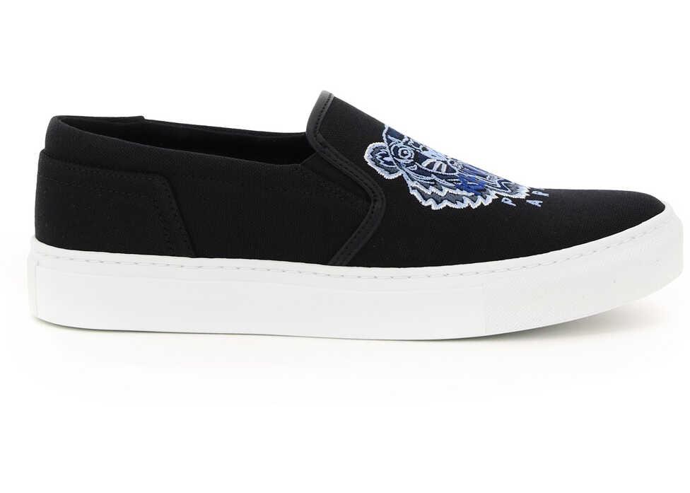 Kenzo K-Skate Slip-On Sneakers FB52SN100F70 BLACK imagine b-mall.ro