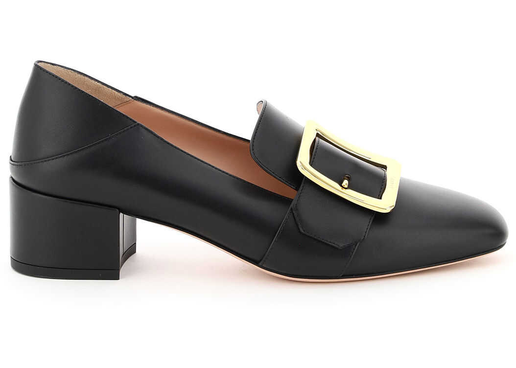 Bally Janelle Leather Loafers 6238157 0100 BLACK imagine b-mall.ro