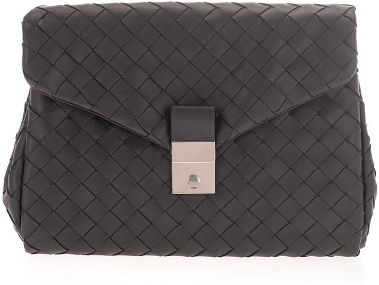 Bottega Veneta Intrecciato Document Case In Black 630233VCRL28803 Black imagine b-mall.ro