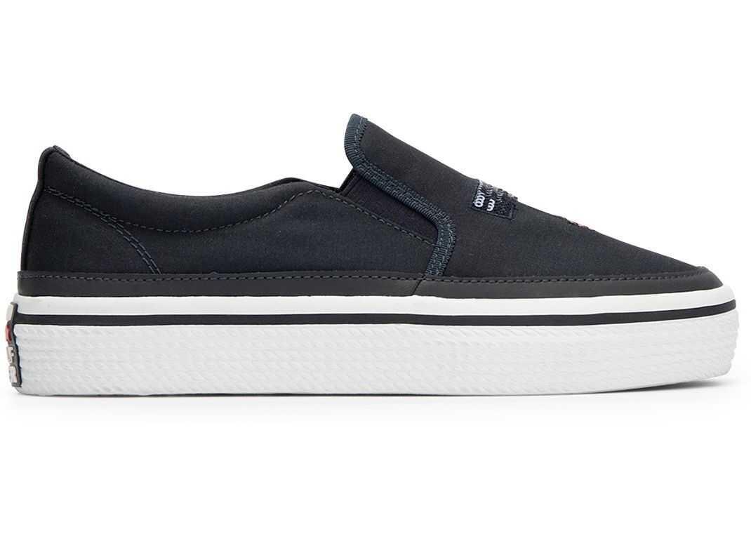 Tommy Hilfiger Sequins Flatform Sneaker Slip On FW0FW02796 Blue