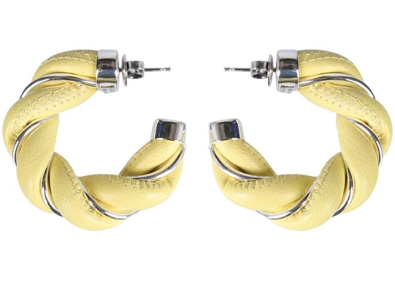 Bottega Veneta Braided Hoop Earrings GREEN