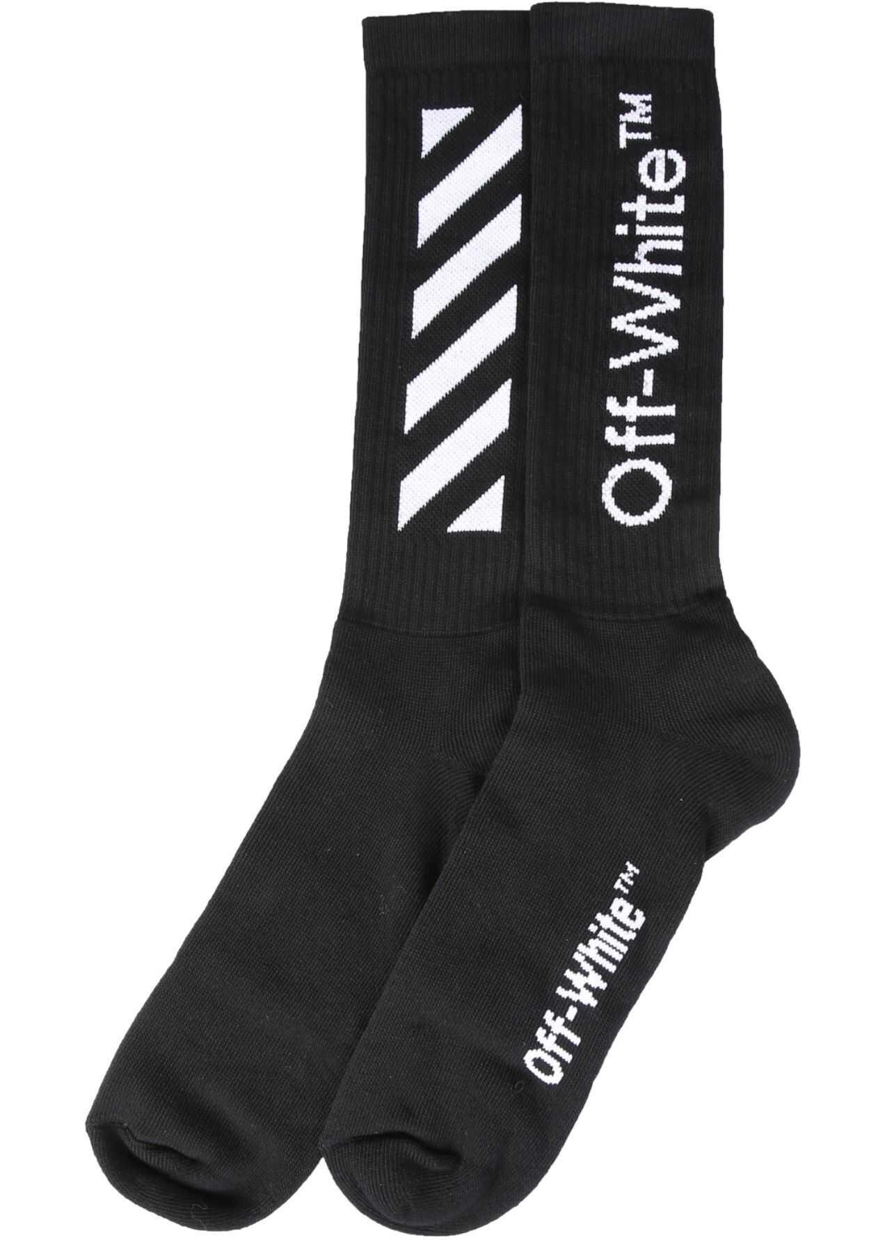 Off-White Socks With Logo BLACK imagine