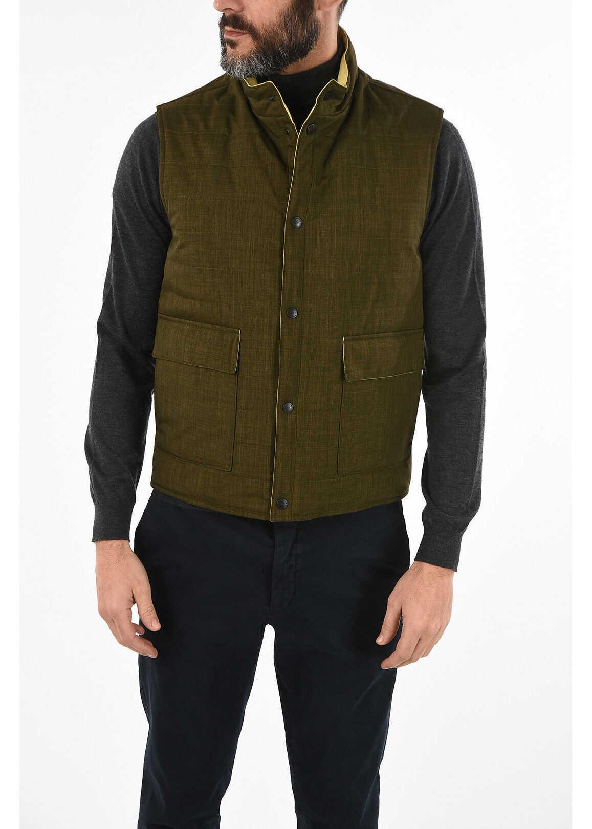CORNELIANI CC COLLECTION Reversible VITALY Vest BROWN imagine