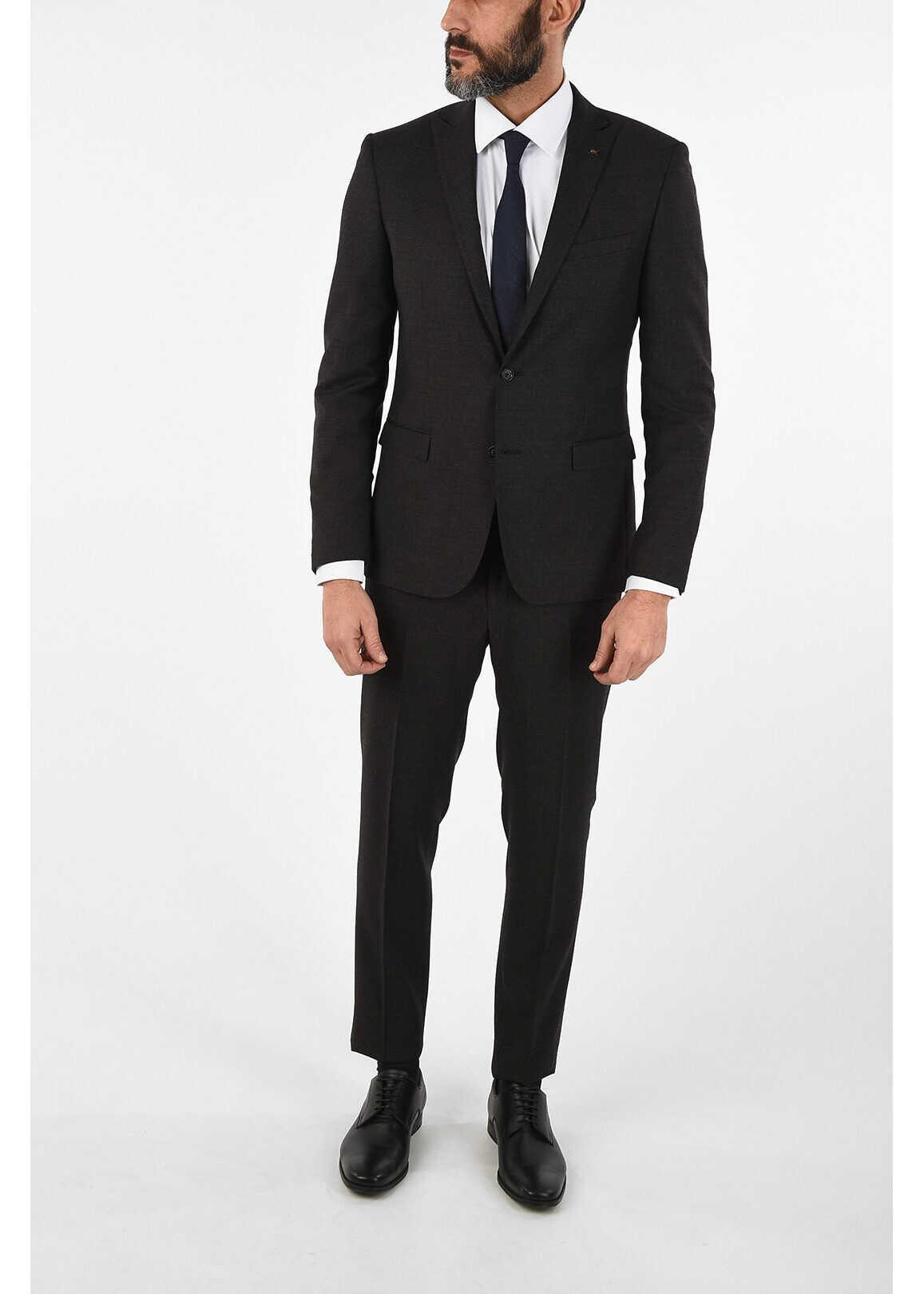 CORNELIANI CC COLLECTION Virgin Wool Single Breasted RESET Suit GRAY imagine