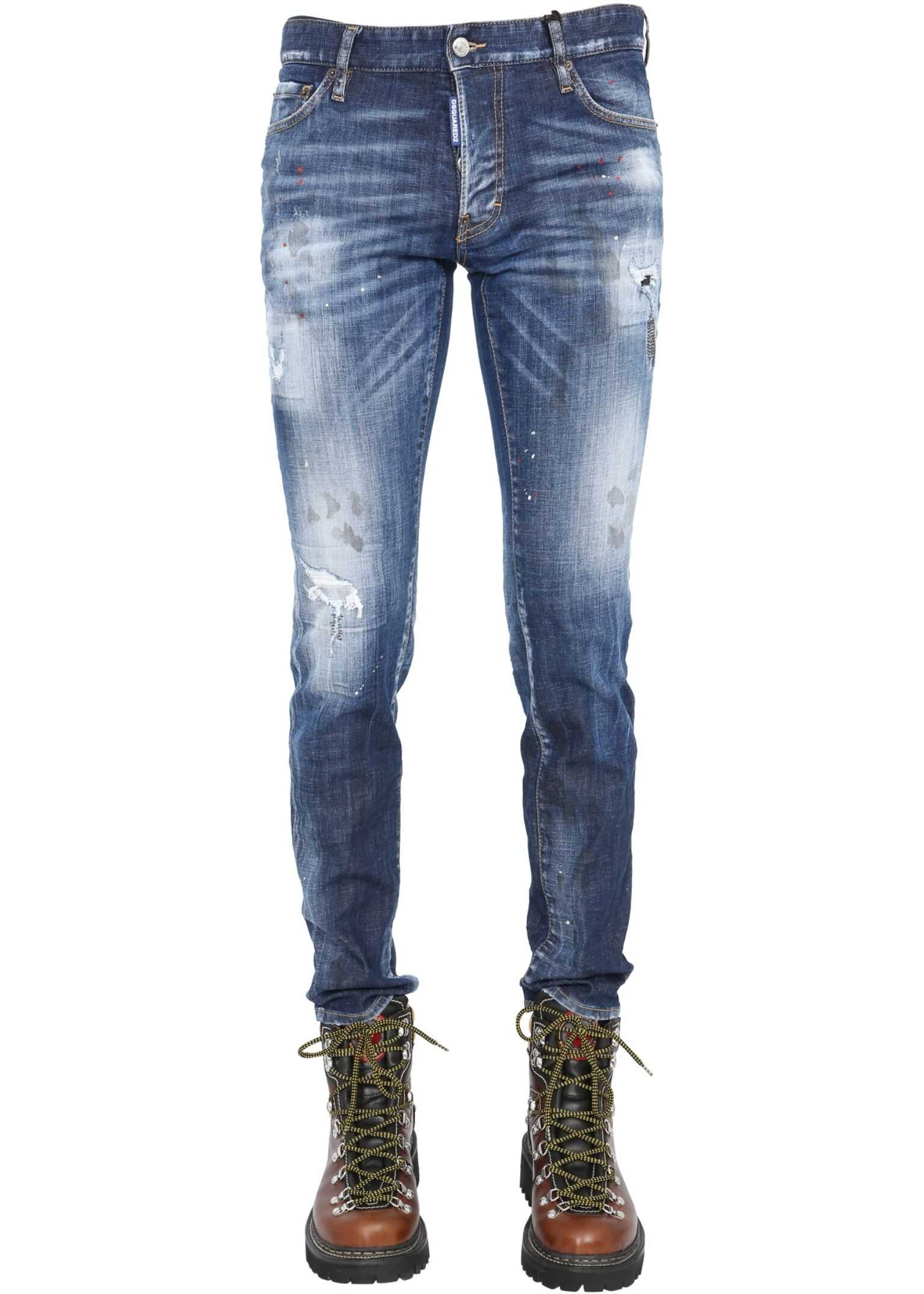 DSQUARED2 Slim Fit Jeans BLUE imagine