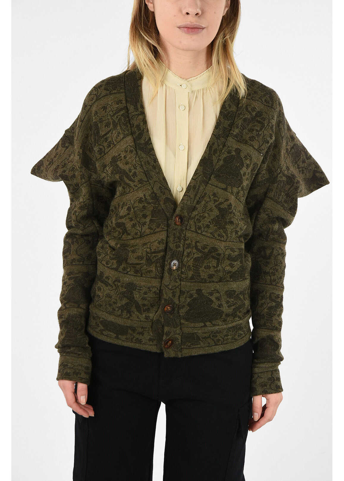 Vivienne Westwood WORLDS END printed WITCHES cardigan GREEN imagine