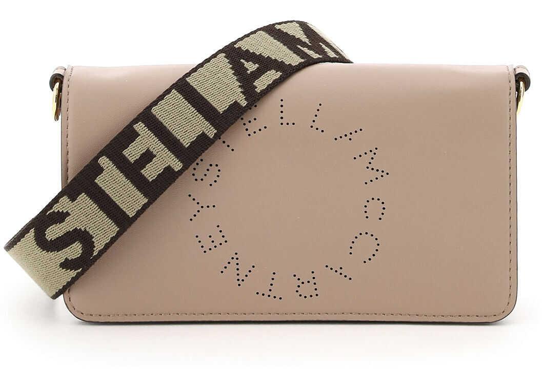 Stella McCartney Crossbody Mini Bag Star Logo Studs 700134 W8542 MOSS imagine b-mall.ro
