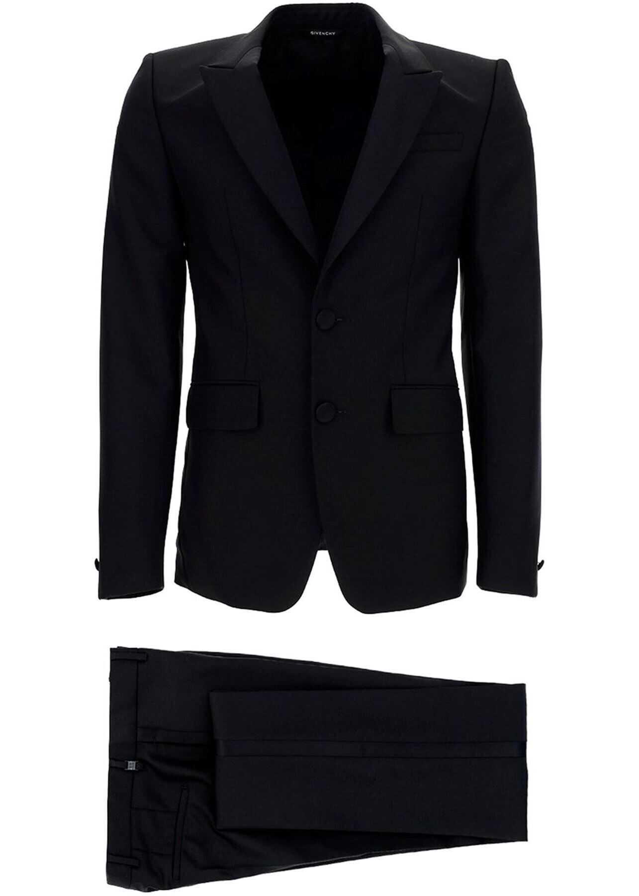 Wool-Mohair Blend Tuxedo In Black