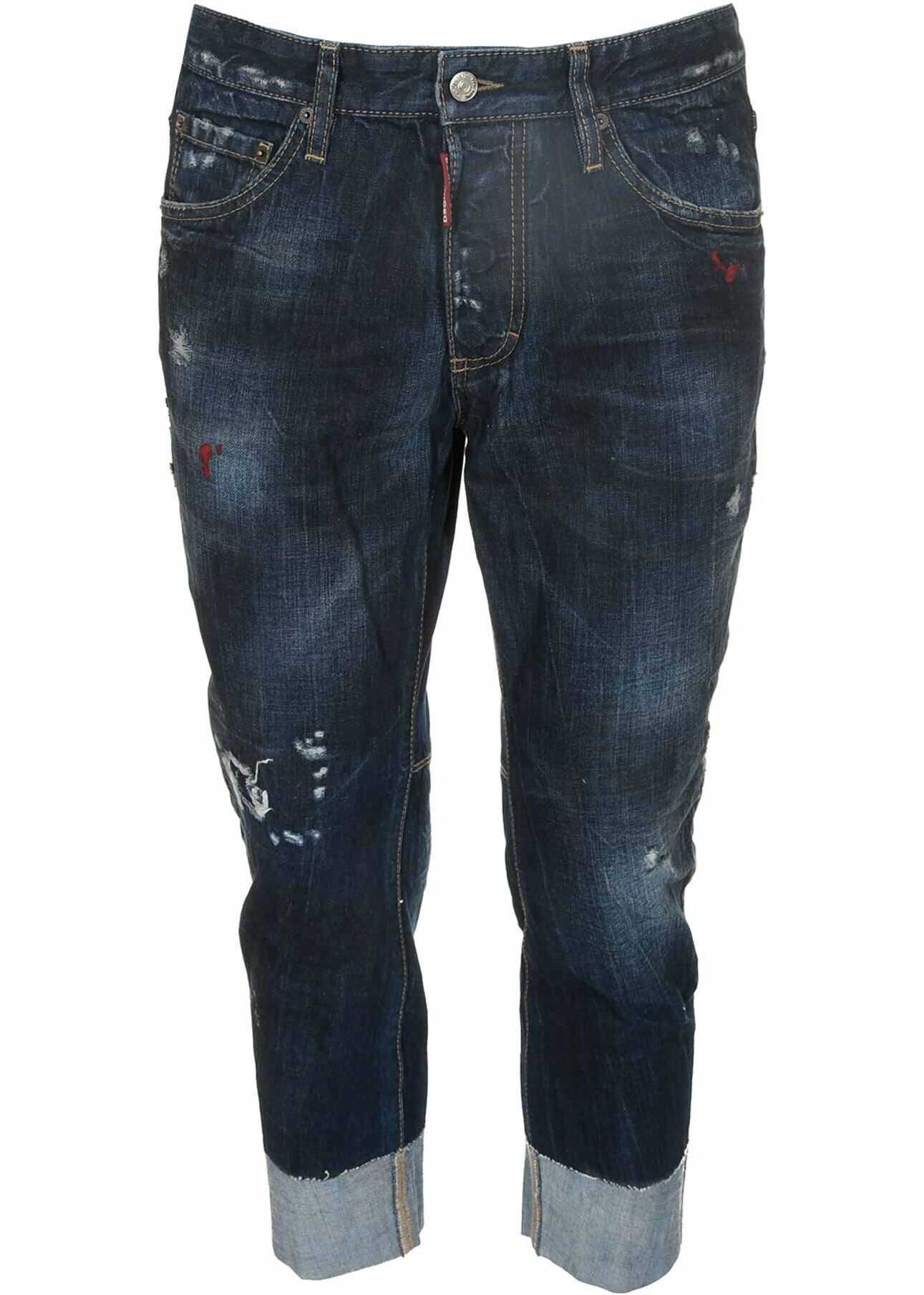 DSQUARED2 Sailor Jeans In Blue Blue imagine