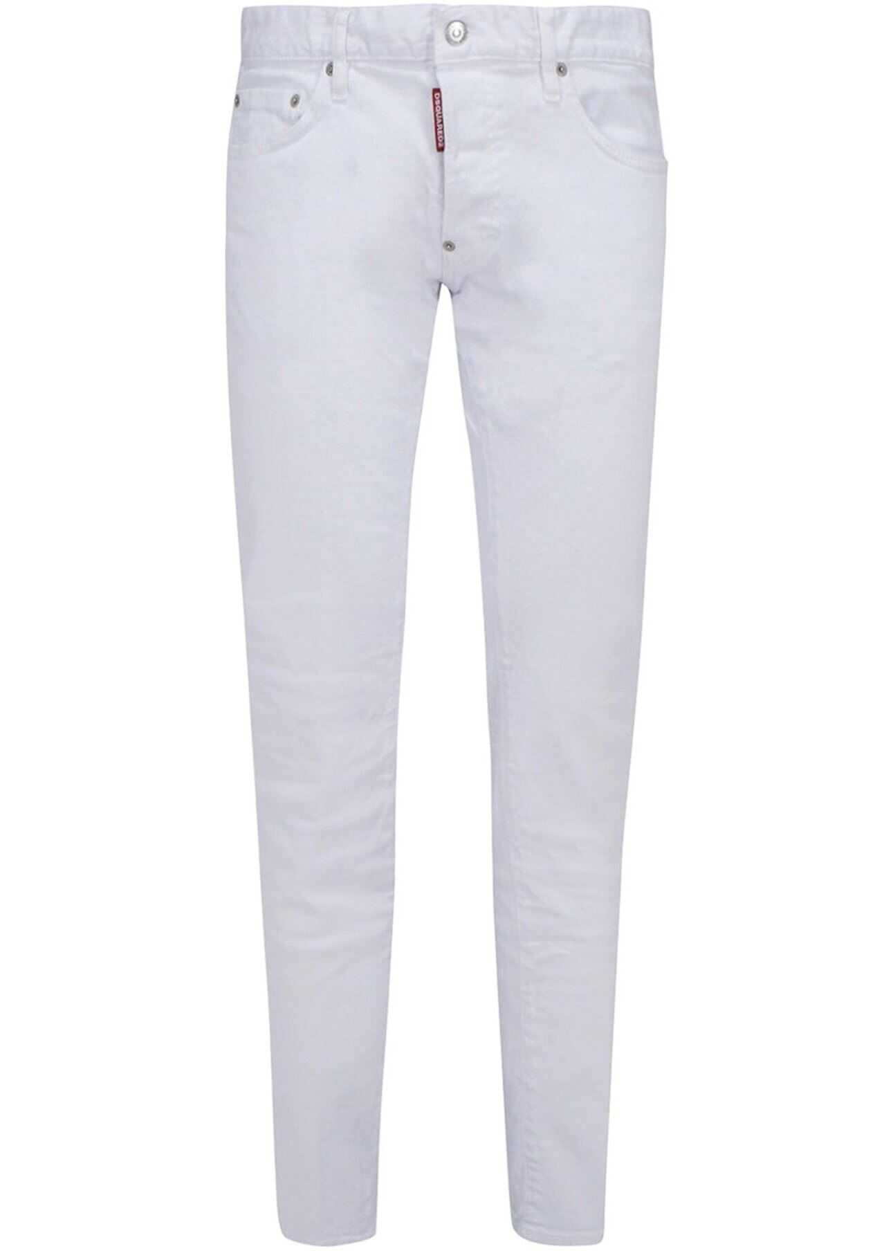 DSQUARED2 Dan White Skinny Jeans White imagine