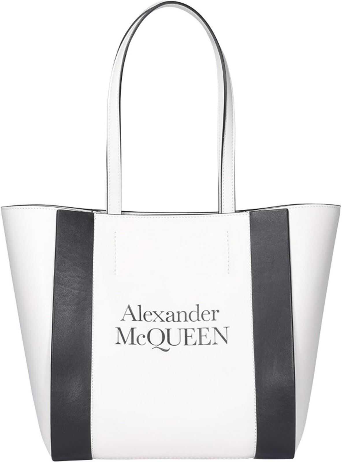 Alexander McQueen Medium Tote Bag In White 6536571X3G19050 White imagine b-mall.ro