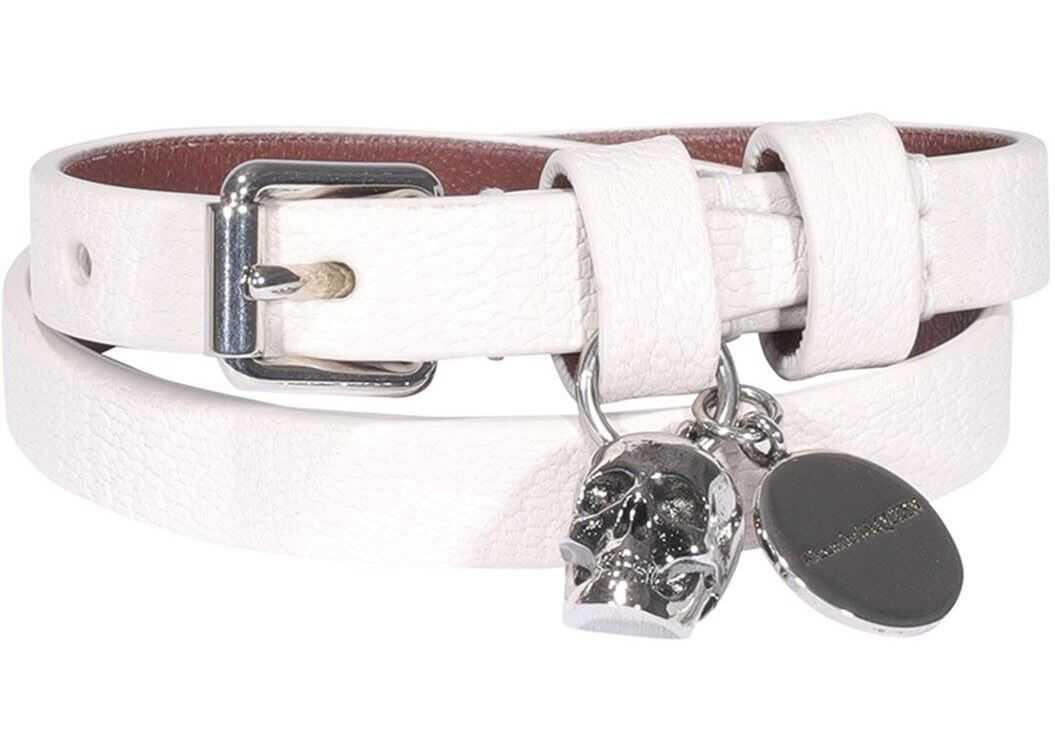 Alexander McQueen Skull Bracelet In White White