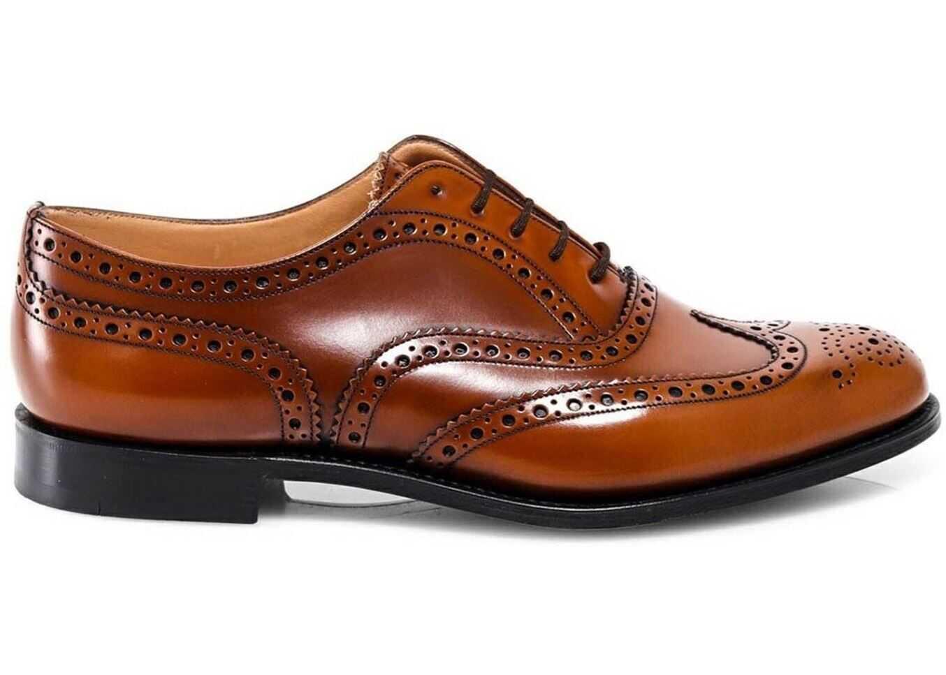 Church's Burwood Brogue Shoes In Brown EEB2649XVF0AAN Brown imagine b-mall.ro