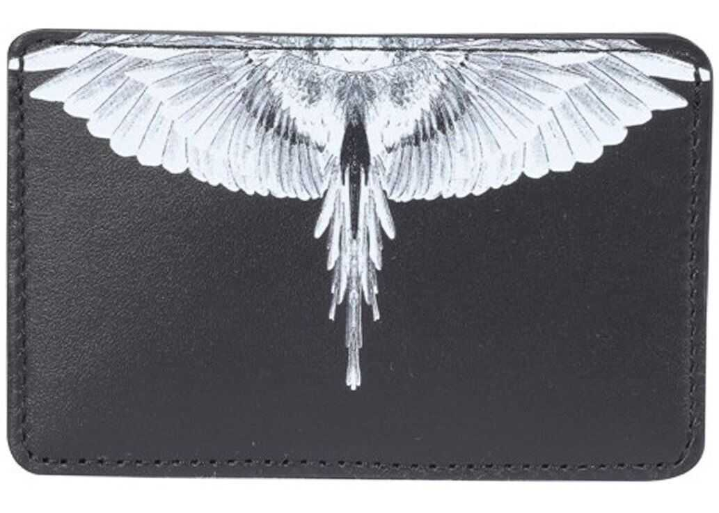 Wings Rinted Leather Card Holder
