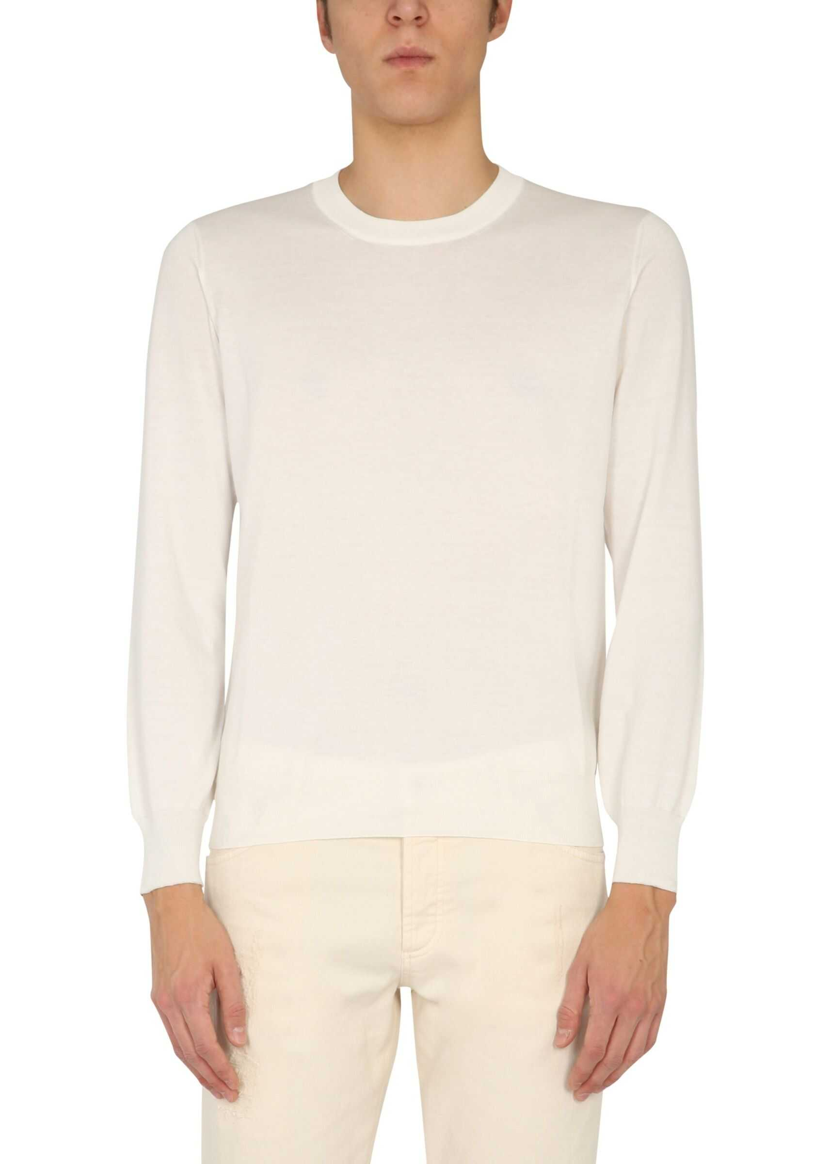 Brunello Cucinelli Crew Neck Sweater BEIGE imagine