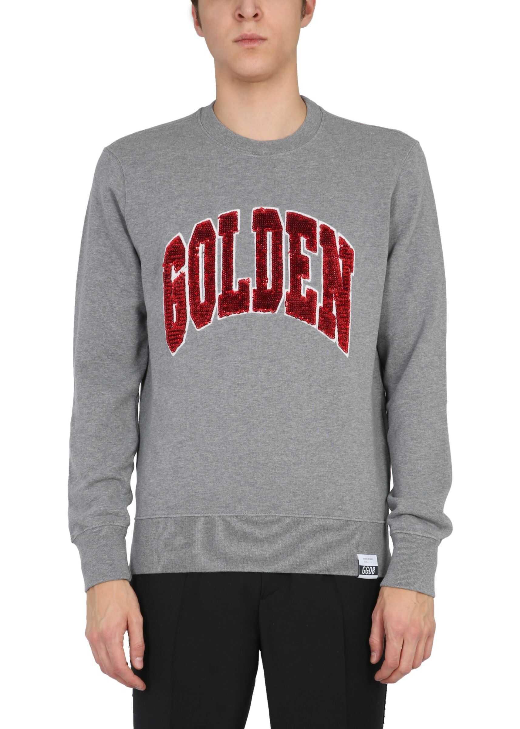 """Golden Goose """"Archibald"""" Sweatshirt With Sequins GREY imagine"""