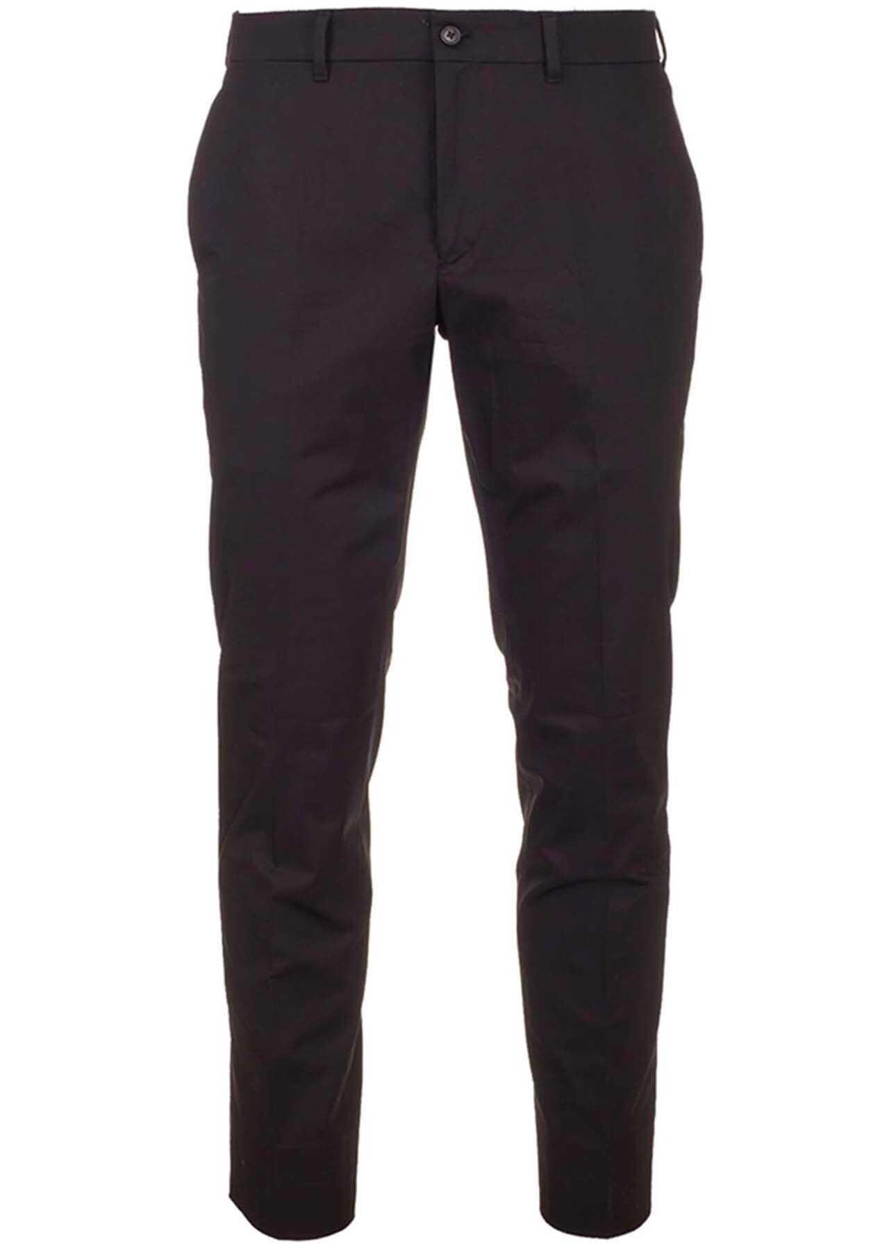 Prada Slash Side Pockets Pants In Black Black imagine