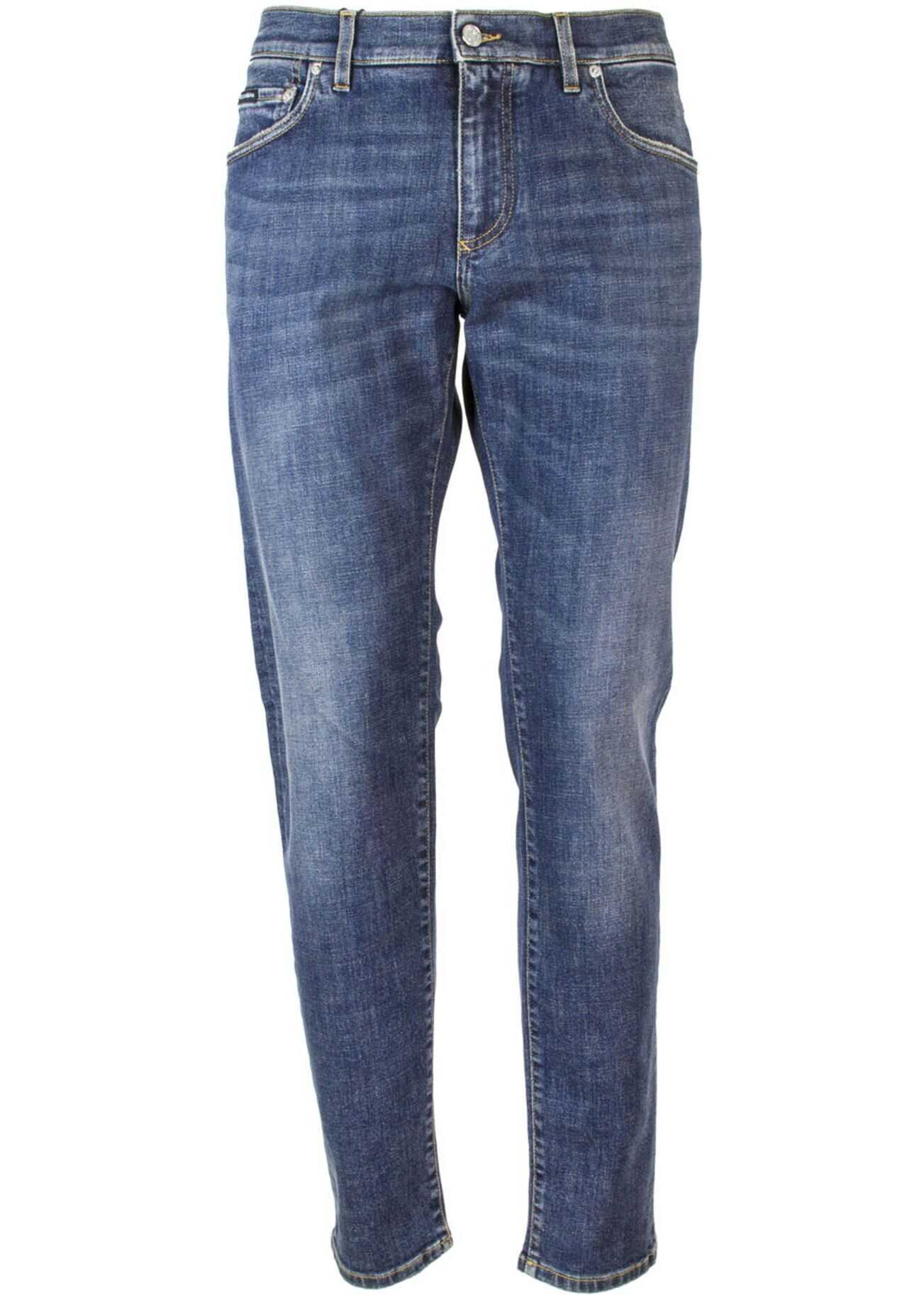 Dolce & Gabbana Slim Fit Jeans In Blue Blue imagine