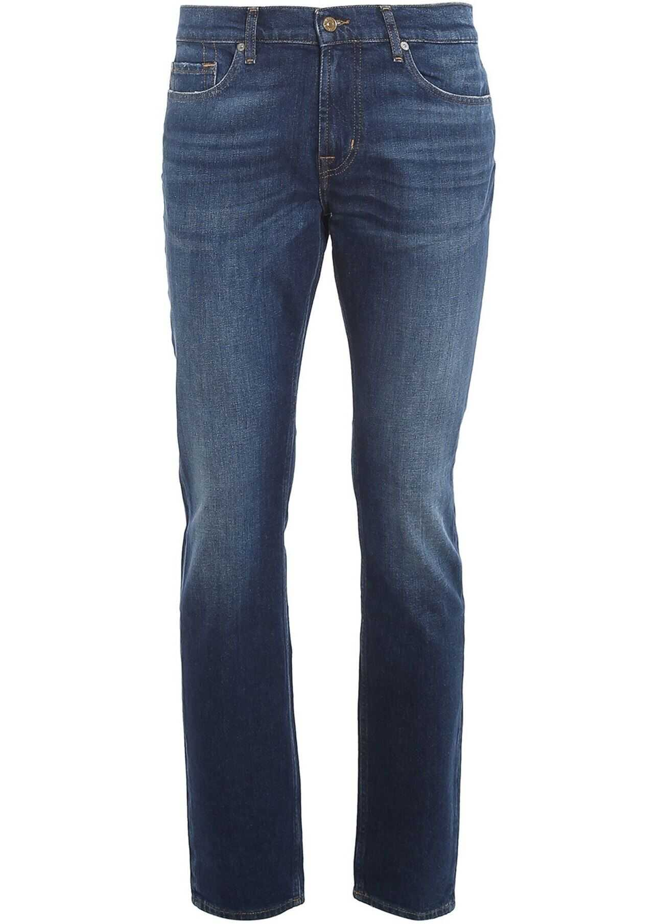 7 For All Mankind Ronnie Crux Jeans In Blue Blue imagine