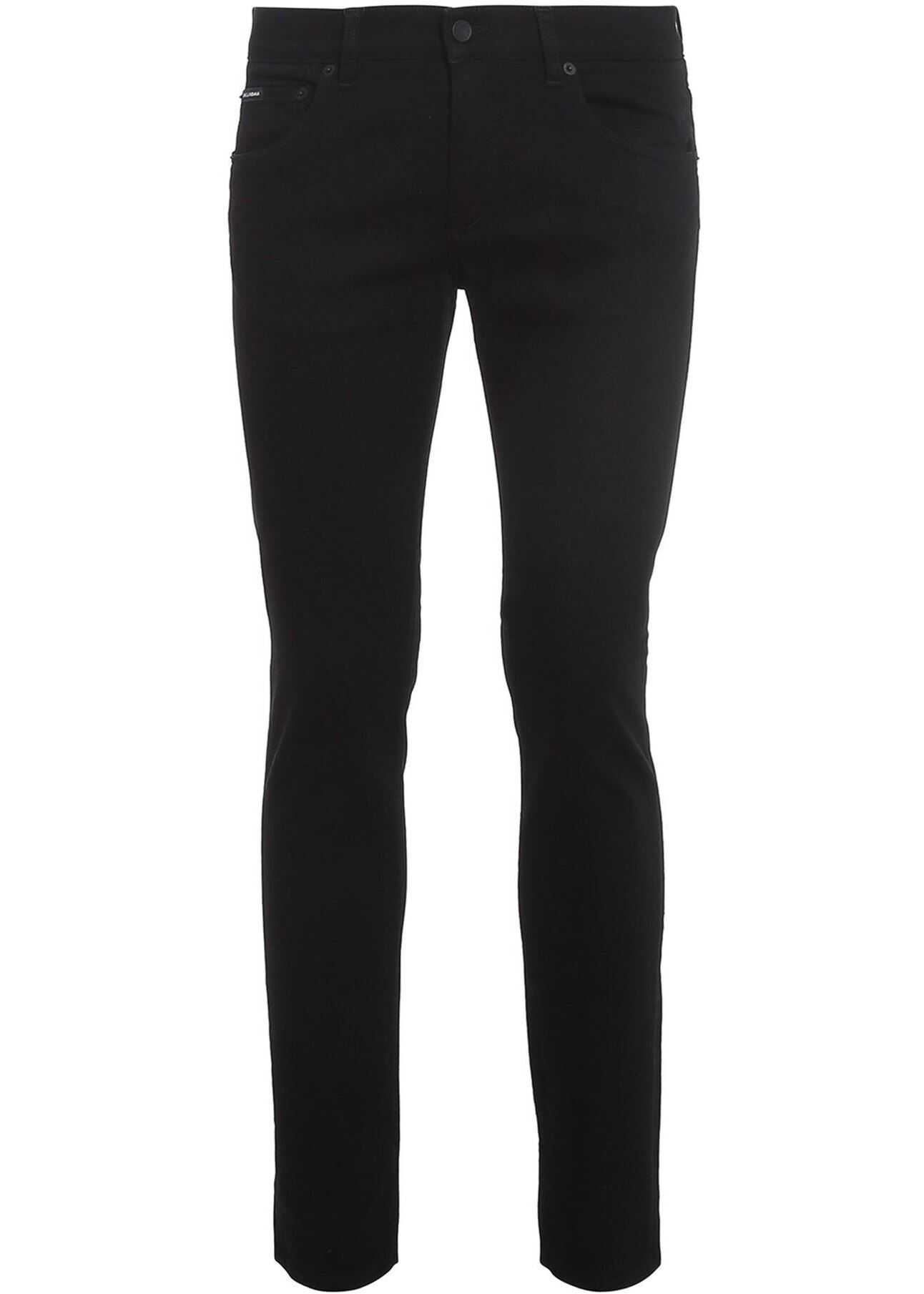 Dolce & Gabbana Black Skinny Jeans Black imagine