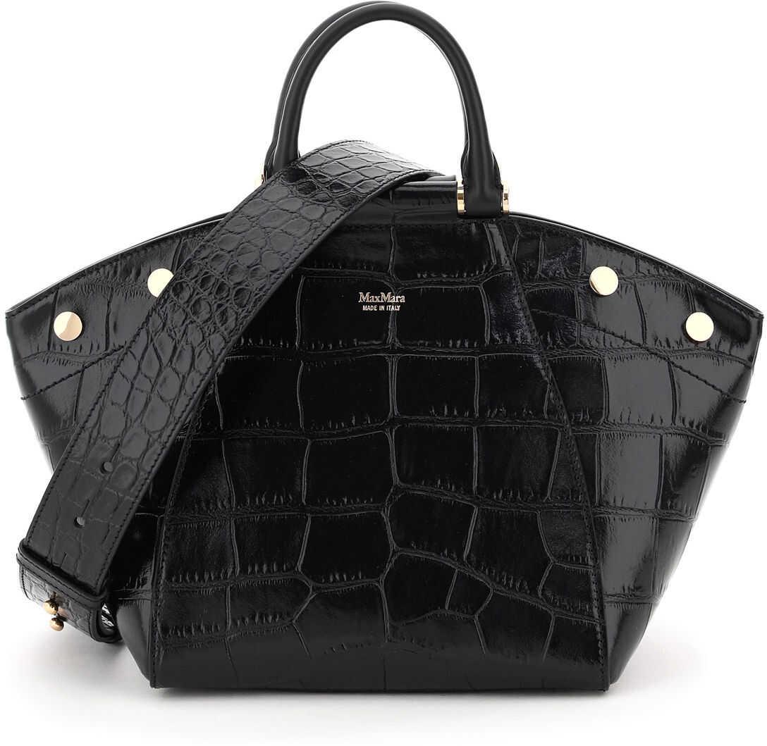 Max Mara Anitas2 Small Handbag With Shoulder Strap ANITA S2 NERO imagine b-mall.ro