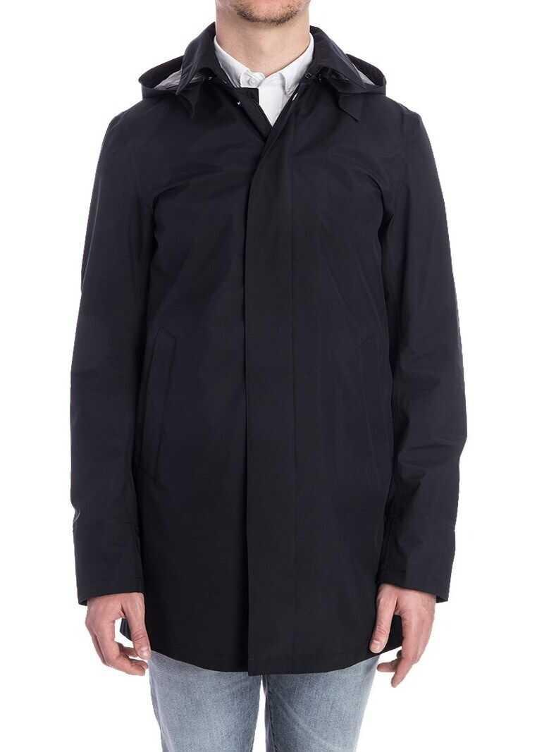 Herno Hooded Jacket Blue imagine