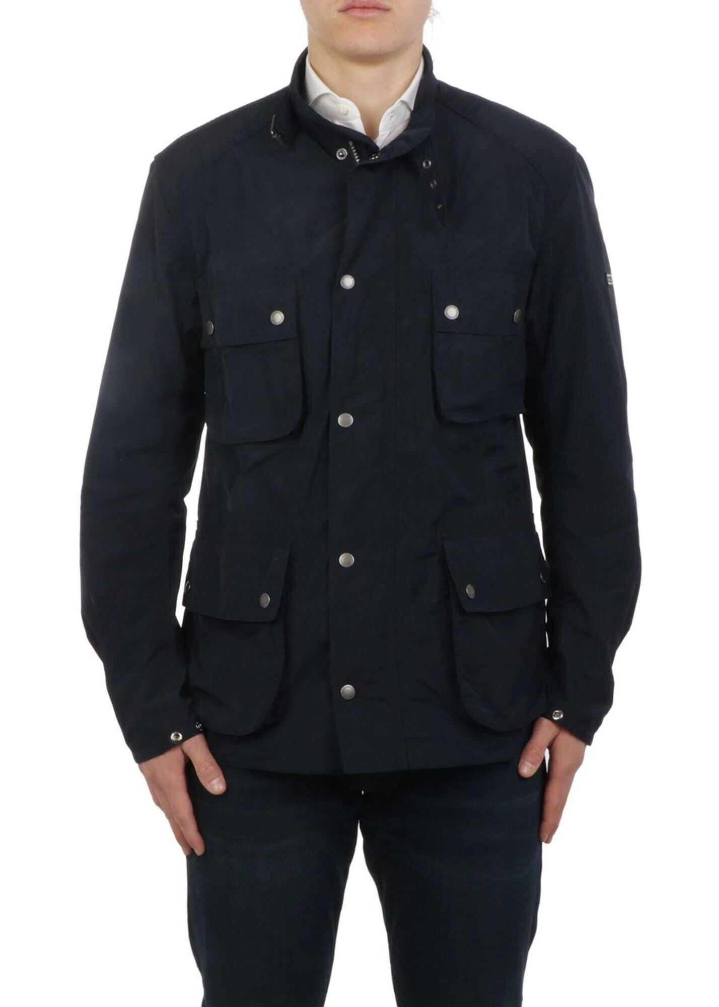Barbour Tech Fabric Multipocket Jacket In Blue Blue imagine