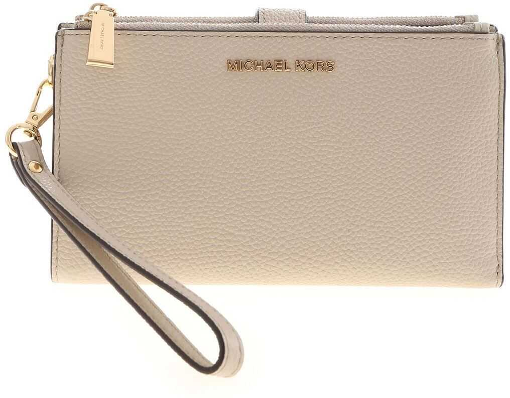 Wallet With Wrist Handle In Sand Color