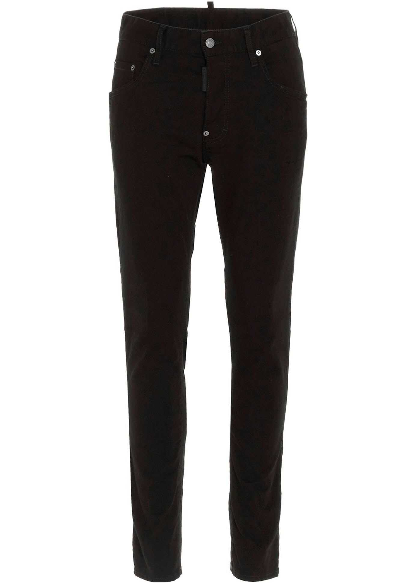 DSQUARED2 5 Pockets Jeans In Black Black imagine