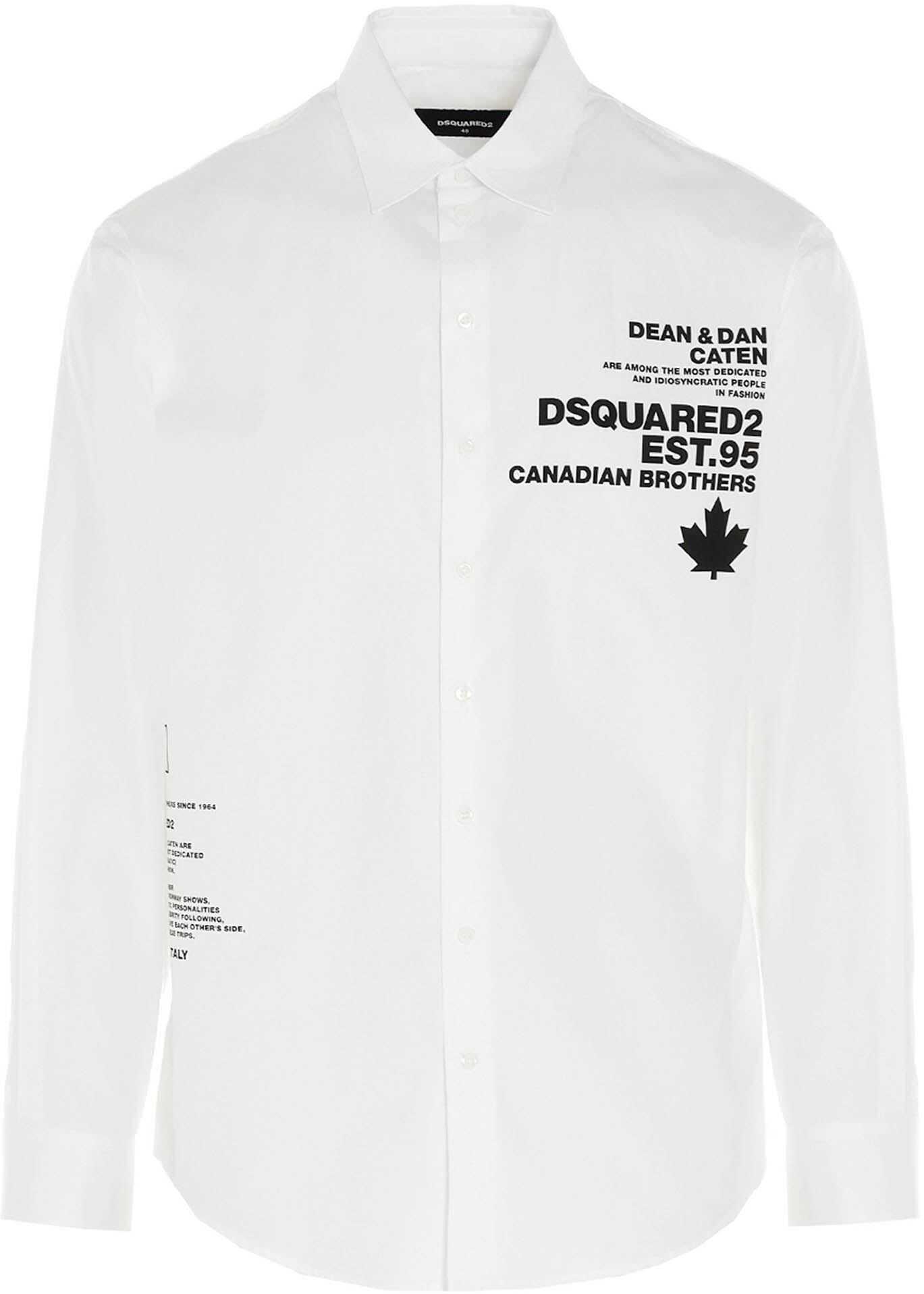 DSQUARED2 Est. 95 Shirt In White White imagine