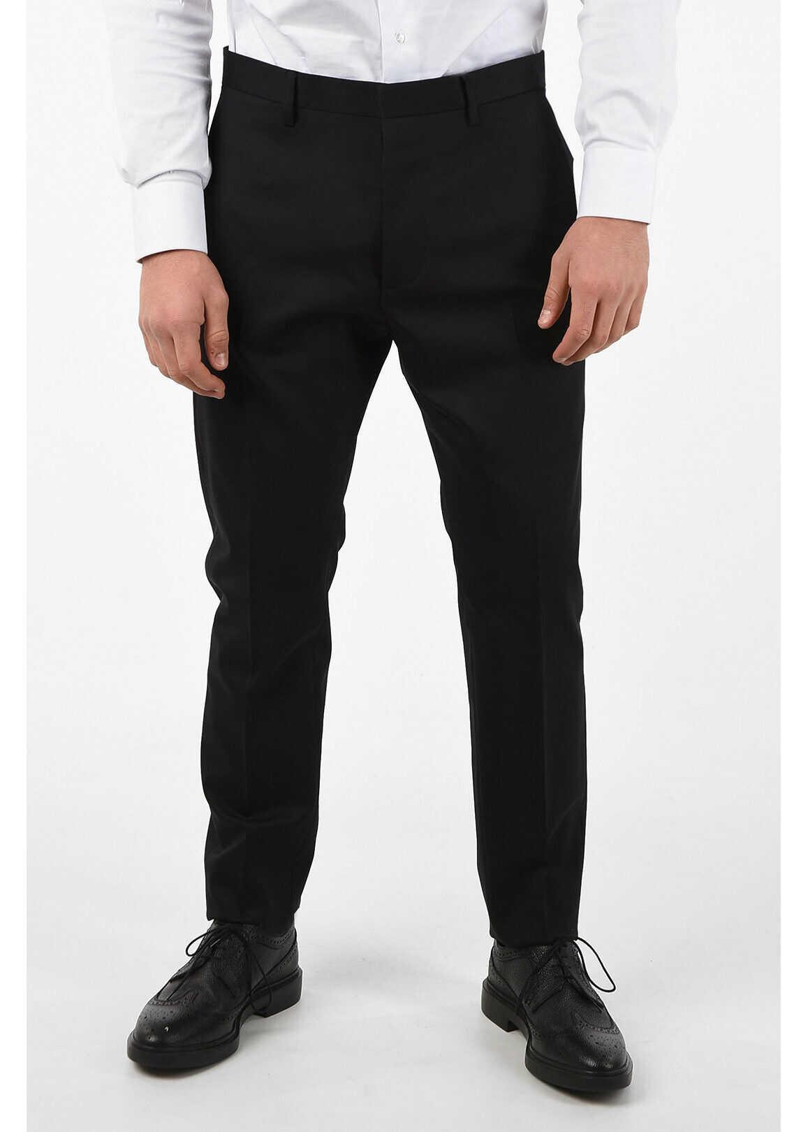 DSQUARED2 Virgin Wool Single Pleat HOCKNEY FIT Pants BLACK imagine