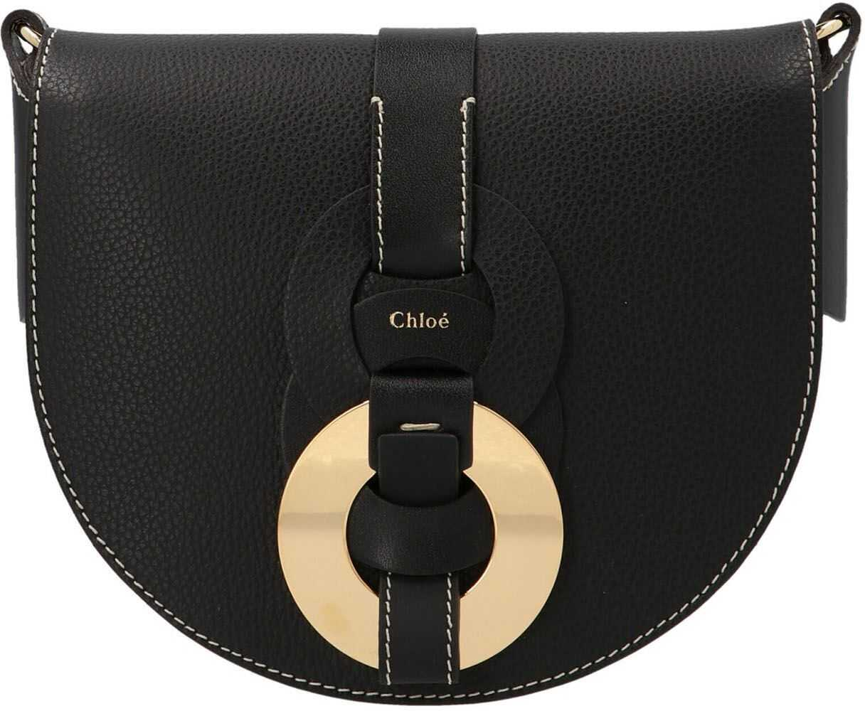 Chloe Darryl Small Bag In Black CHC21SS344C61001 Black imagine b-mall.ro
