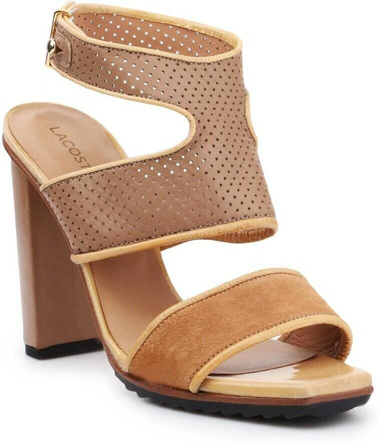 Lacoste high heels for BROWN imagine b-mall.ro