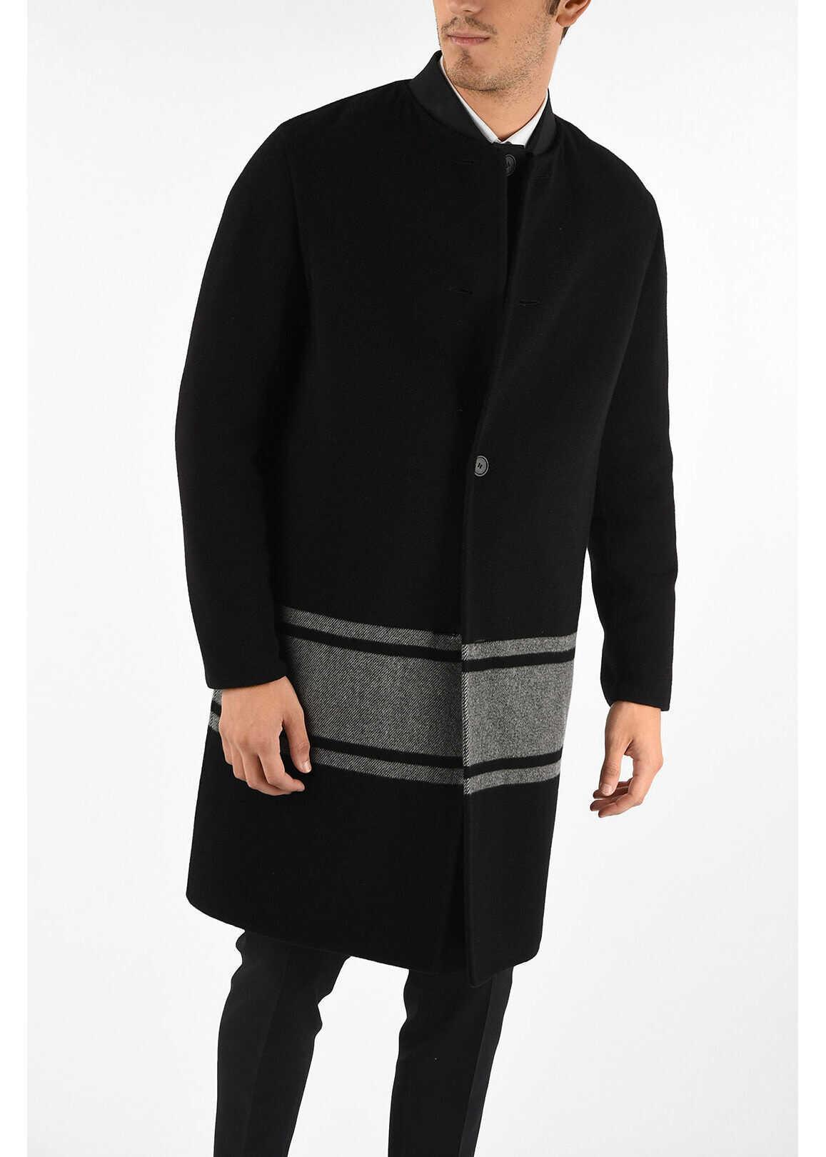 Bottega Veneta balmacaan coat BLACK imagine