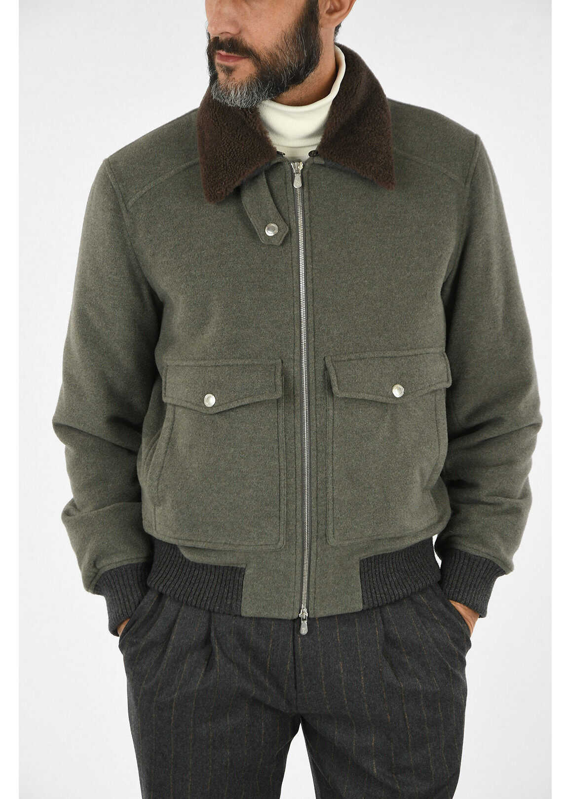 Wool and Cashmere Biker Jacket