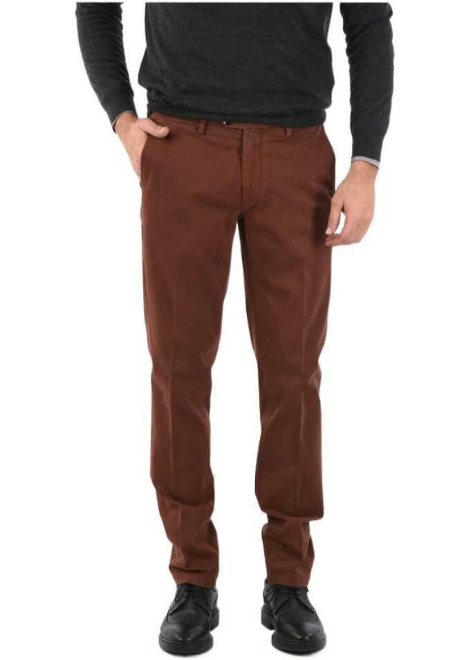 CORNELIANI ID Mid-rise waist single pleat M ALGA 426 trousers BROWN imagine