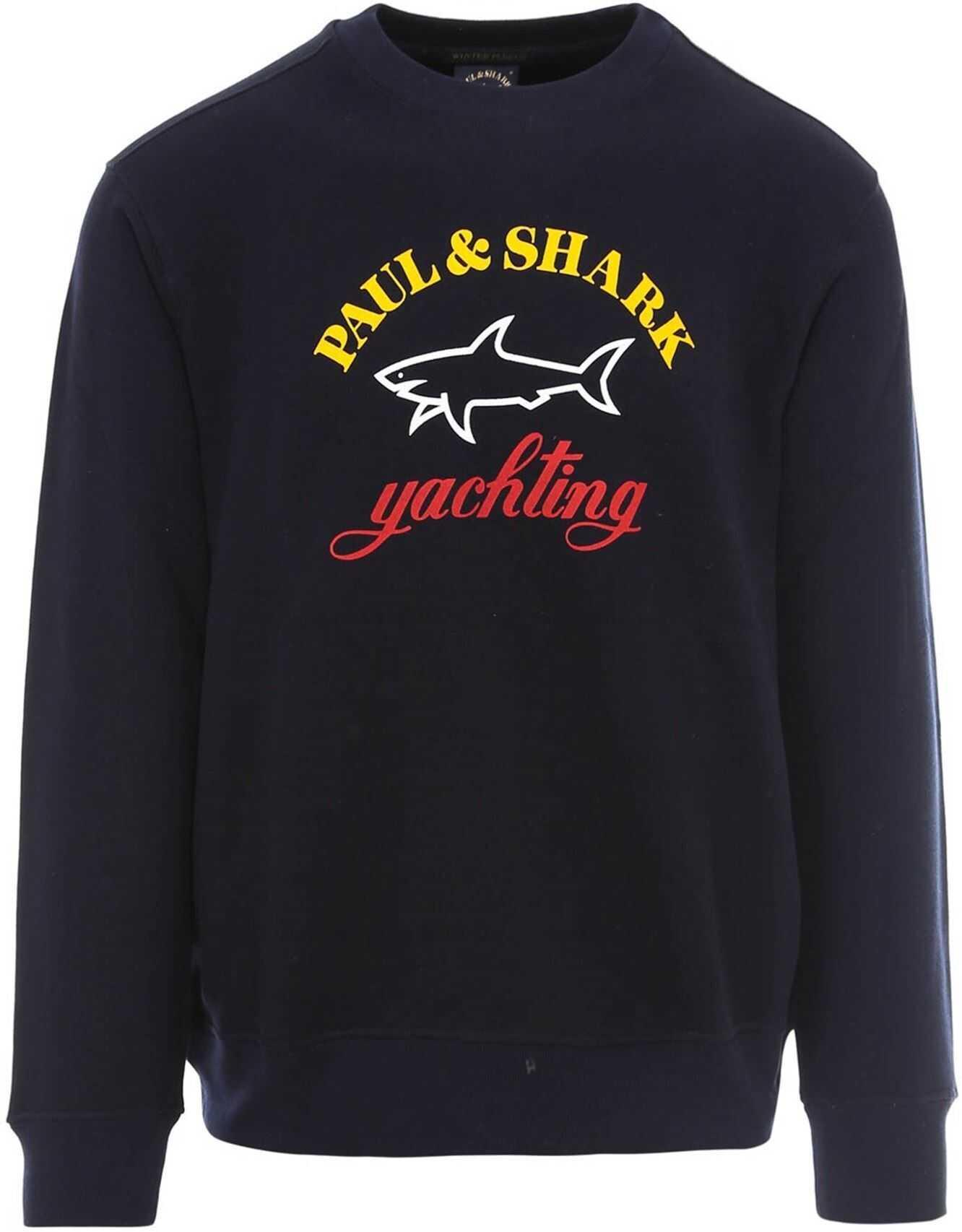 Paul&Shark Logo Sweatshirt In Blue Blue imagine